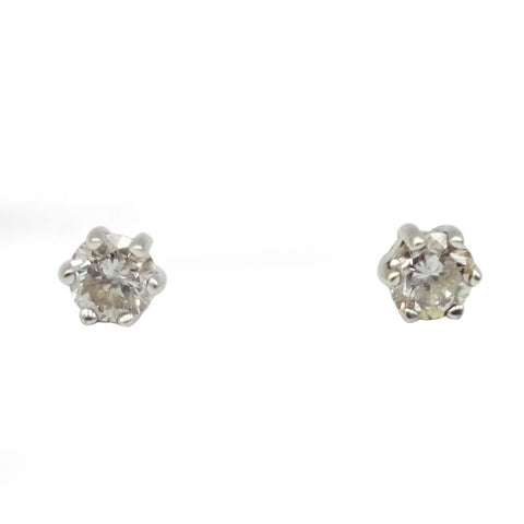 9ct Yellow & White Gold Diamond Stud Earrings 0.16ct - Richard Miles Jewellers