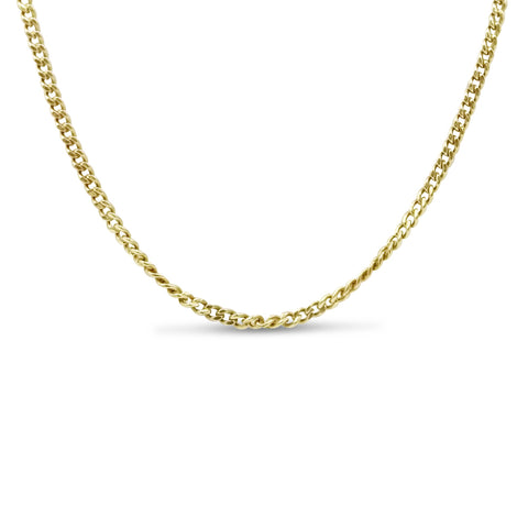 14ct Yellow Gold Fine Curb Chain 18 Inches