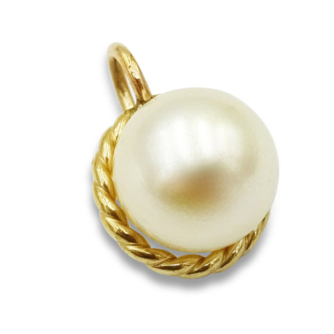 9ct Yellow Gold Pearl Pendant 7mm