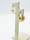 9ct Yellow Gold Vintage Hoop Earrings