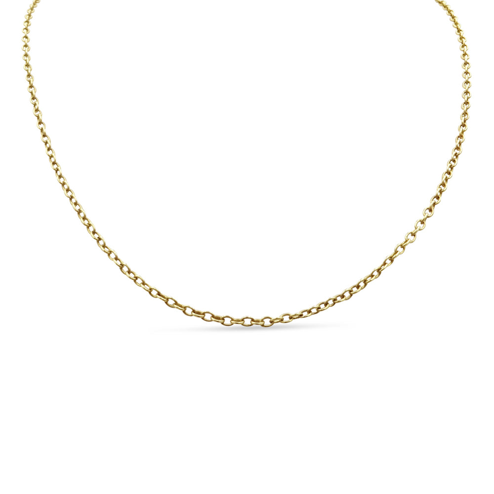 9ct Gold Belcher Chain 25 Inches 2.5mm