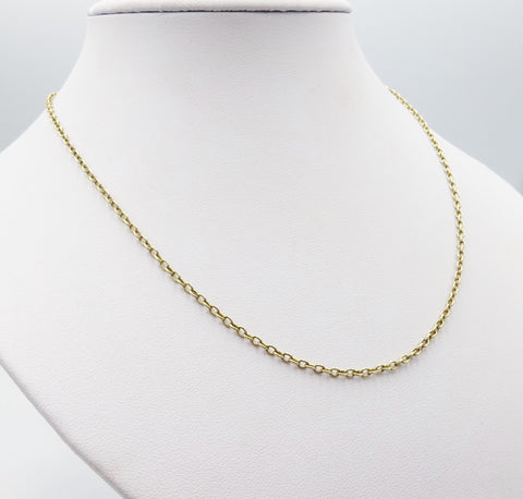 9ct Gold Belcher Chain 24 Inches