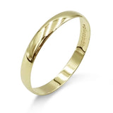 9ct Yellow Gold 3mm Wedding Band Size V Light Weight