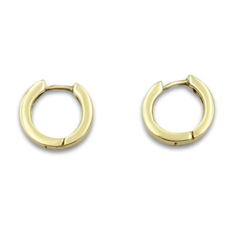 14ct Gold Round Huggie Earrings
