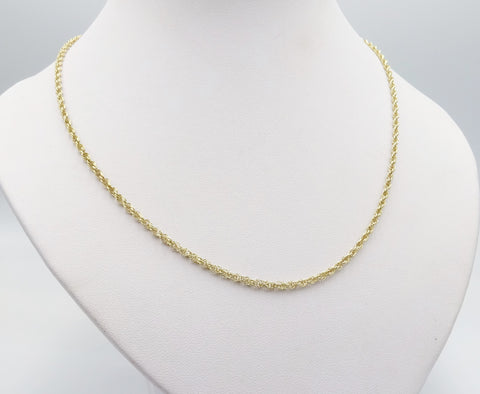 9ct Gold Twist Chain 24 Inches