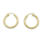 9ct Gold Ladies Hoops 25mm