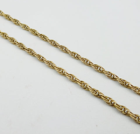 9ct Gold Rope Chain 22 Inches