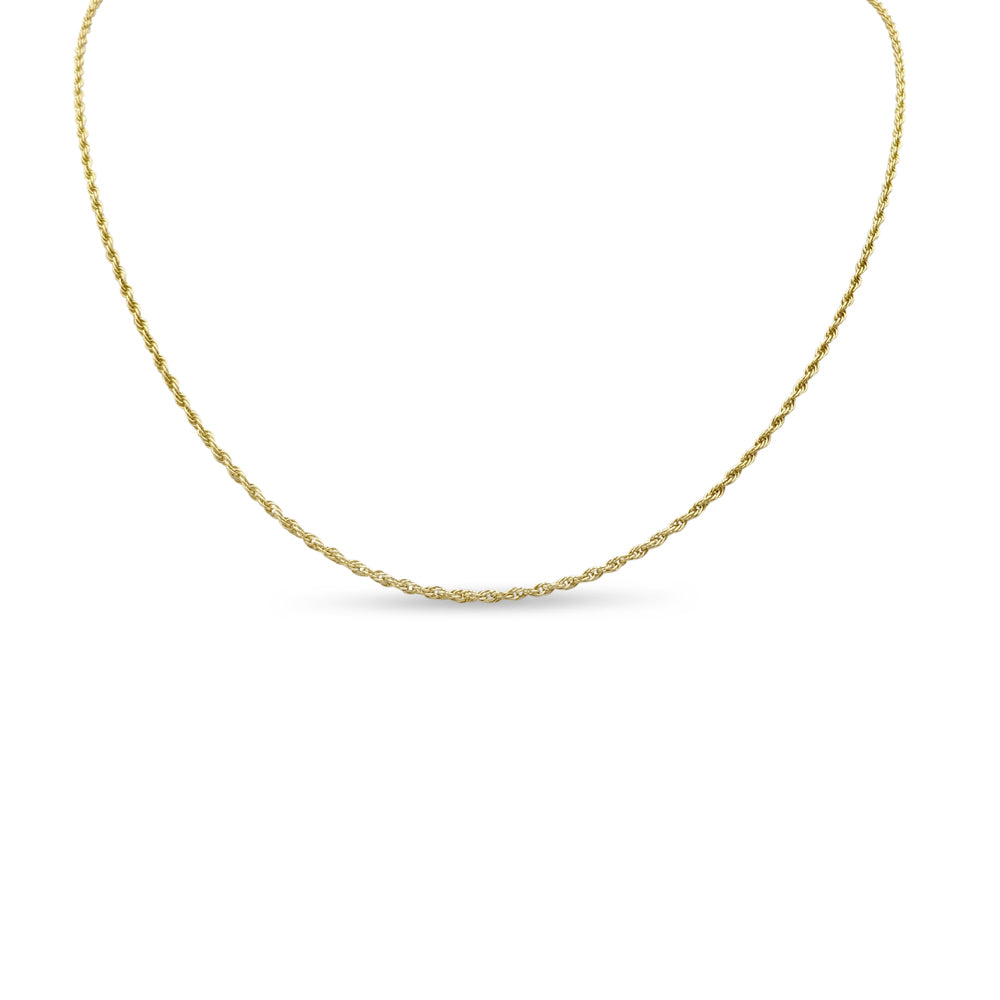9ct Gold Fine Rope Chain 23 Inches