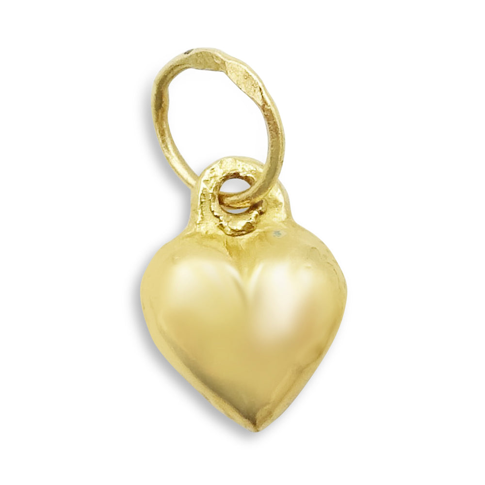 18ct Gold Small Heart Pendant Charm