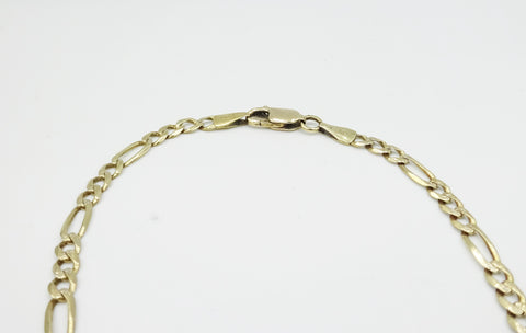 9ct Gold Figaro Bracelet 8 Inches