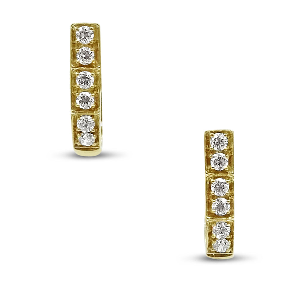 14ct Cubic Zirconia Ladies Huggie Clip Earrings