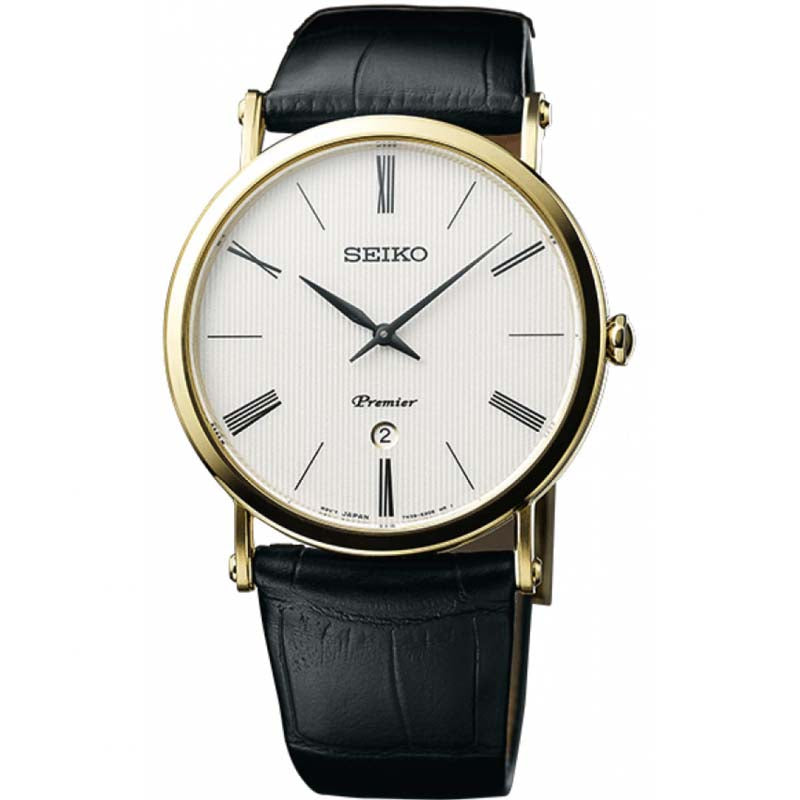Mens Seiko Premier Stainless Steel  Sapphire Crystal Watch SKP396P1 - Richard Miles Jewellers