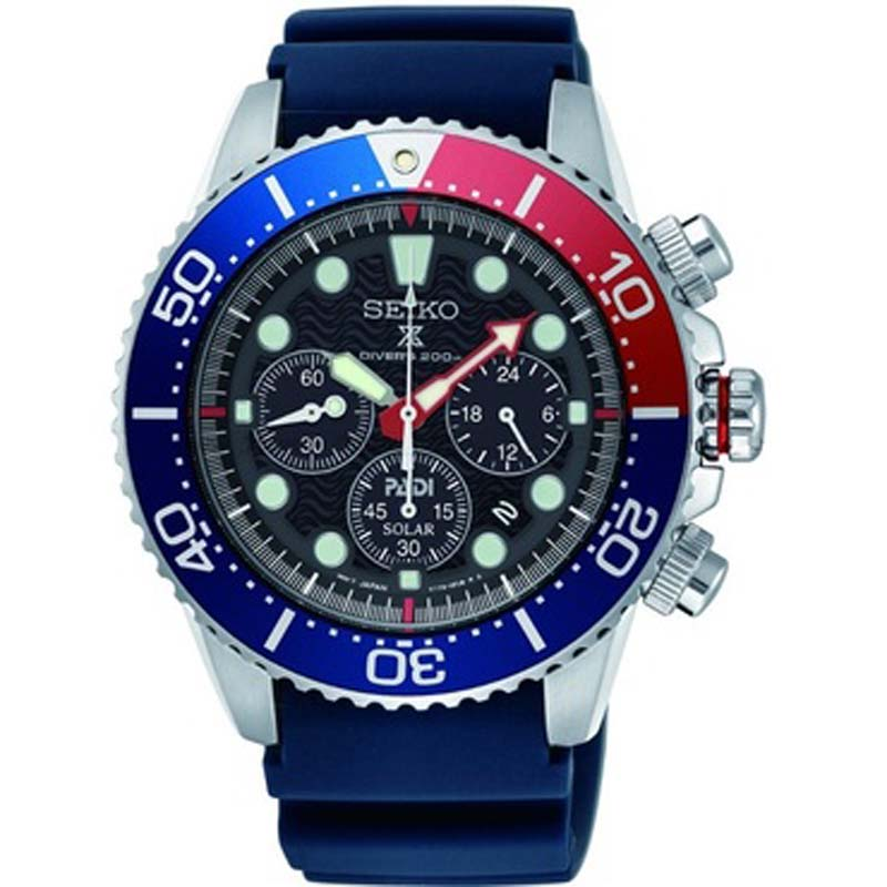 Seiko Prospex Sea Padi Solar Powered Chronograph Diver's Watch SSC663P1 - Richard Miles Jewellers