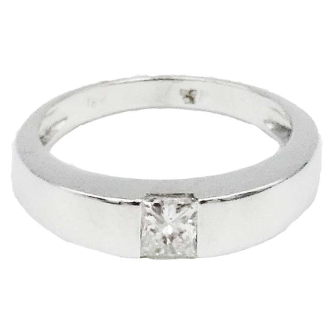 18ct White Gold 0.30ct Clarity SI2 Colour H Diamond Single Stone Ladies Engagement Ring Size M 1/2 3.7g - Richard Miles Jewellers