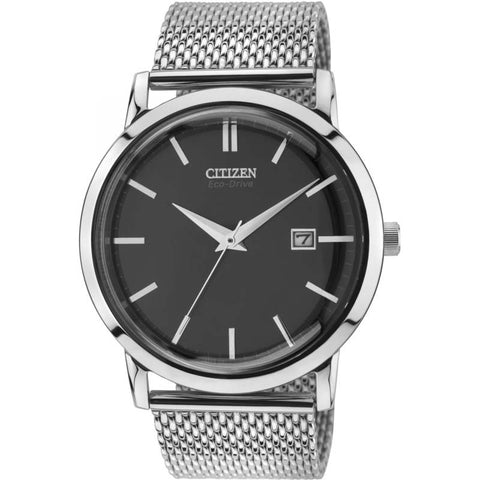 Citizen Men's Eco Drive Mesh Bracelet Watch BM7190-56H - Richard Miles Jewellers