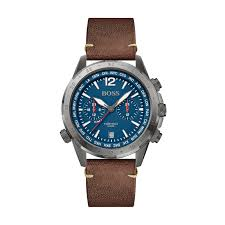 Hugo Boss Nomad Gents Brown Leather Chronograph Watch 1513773 - Richard Miles Jewellers