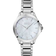 Hugo Boss Stainless Steel Mother Of Pearl Ladies Watch 1502522 - Richard Miles Jewellers