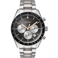 Hugo Boss Trophy Watch Stainless Steel Grey, Rose Gold & Silver 1513634 - Richard Miles Jewellers
