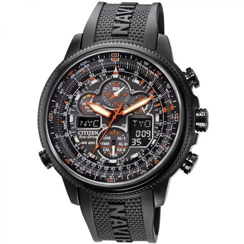 Mens Citizen Navihawk Alarm Chronograph Radio Controlled Watch JY8035-04E