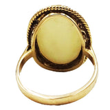 9ct Yellow Gold Ladies Large Oval Opal Ring Size M 4.6g 21mm