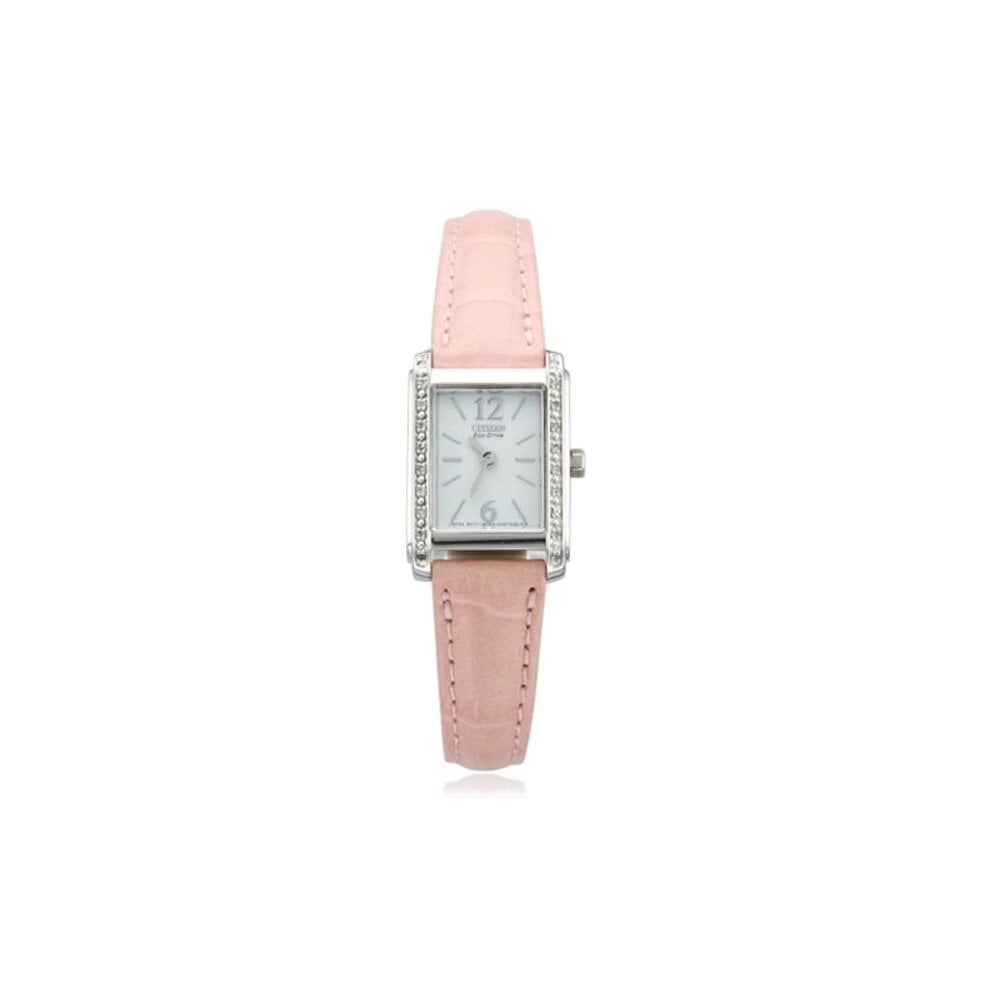 Citizen Ladies Pink Leather Palidoro Diamond Bezel Watch EW9460-07AW RRP £199 - Richard Miles Jewellers