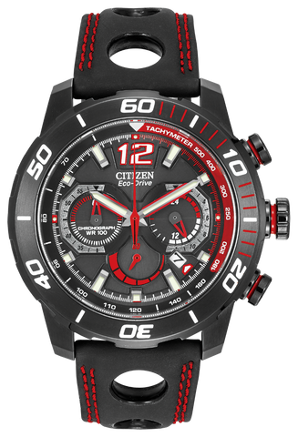 Citizen Eco-Drive Mens Red & Black Primo Stingray Watch CA4085-083 RRP £249