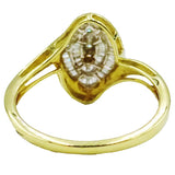 9ct Yellow Gold 0.33ct Marquise Diamond Quality Ladies Cluster Ring Size N 1/2 2.9g