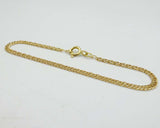 18ct Yellow Gold Small Childrens Double Curb Twist Bracelet