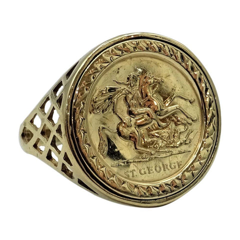 St George Ring Gold 9ct For Men