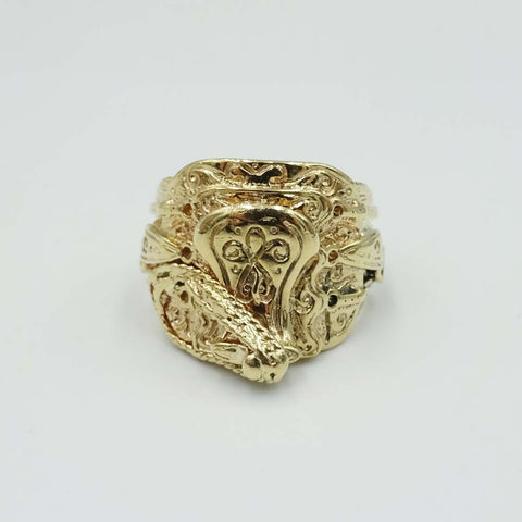 9ct Yellow Gold Turban Mens Ring Size W