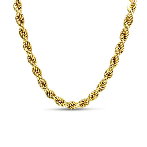 9ct Yellow Gold Rope Chain Necklace 18""