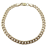 9ct Yellow Gold Curb Bracelet 8""