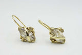 14ct Yellow Gold Cubic Zirconia Earrings