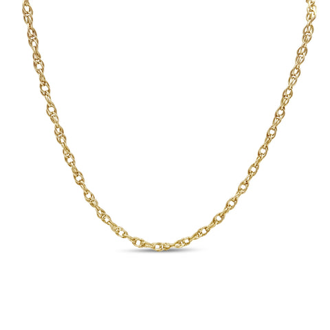 9ct Yellow Gold Prince of Wales Twist Chain 19""