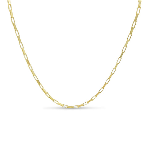 9ct Yellow Gold Fine Box Chain Necklace 15""