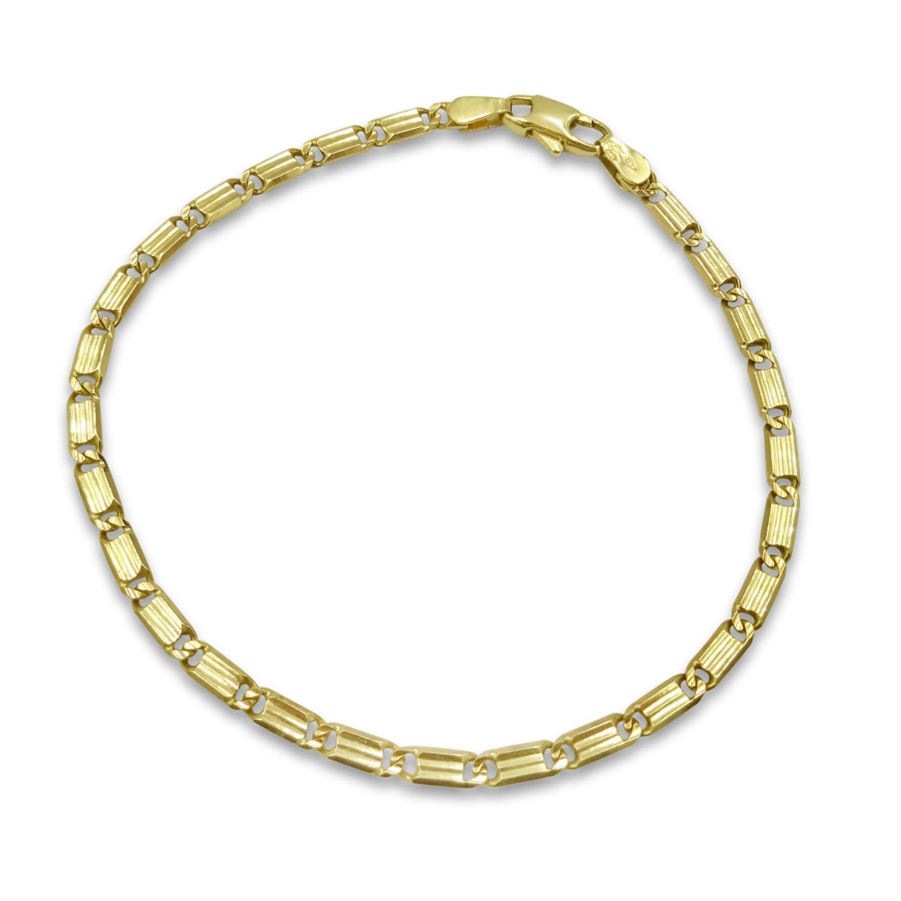 9ct Yellow Gold Bar Link Bracelet