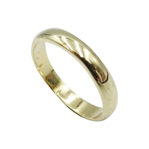 9ct Yellow Gold Traditional Wedding Band Size F