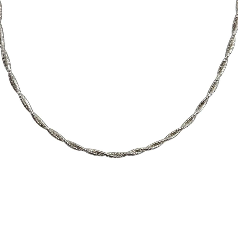 Ladies 925 Sterling Silver Rope Chain Necklace