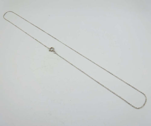 Silver Close Link Trace Chain Necklace 16""