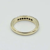 9ct Yellow Gold Half Eternity Diamond Ring 0.28ct Size M 1/2