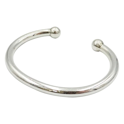 Sterling Silver Open Back Torque Bangle