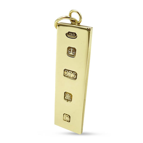 9ct Yellow Gold Large Ingot Pendant