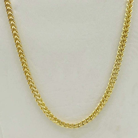 9ct Yellow Gold Foxtail Chain Necklace 22""