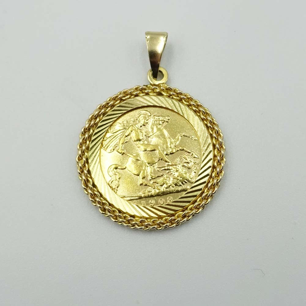 1903 Half Sovereign with Pendant Mount