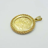 1903 22ct Half Sovereign with 9ct Pendant Mount