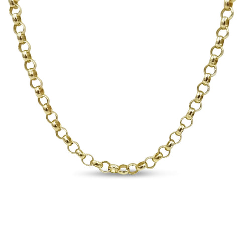 9ct Yellow Gold Belcher Chain Necklace 24""