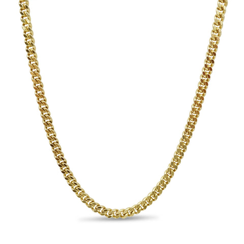 9ct Yellow Gold Fine Curb Chain Necklace 25""