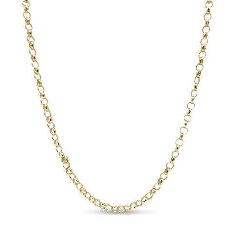 9ct Yellow Gold Fine Belcher Chain Necklace 16""