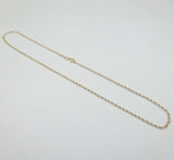 9ct Gold Fine Belcher Light Weight Chain Necklace 16""