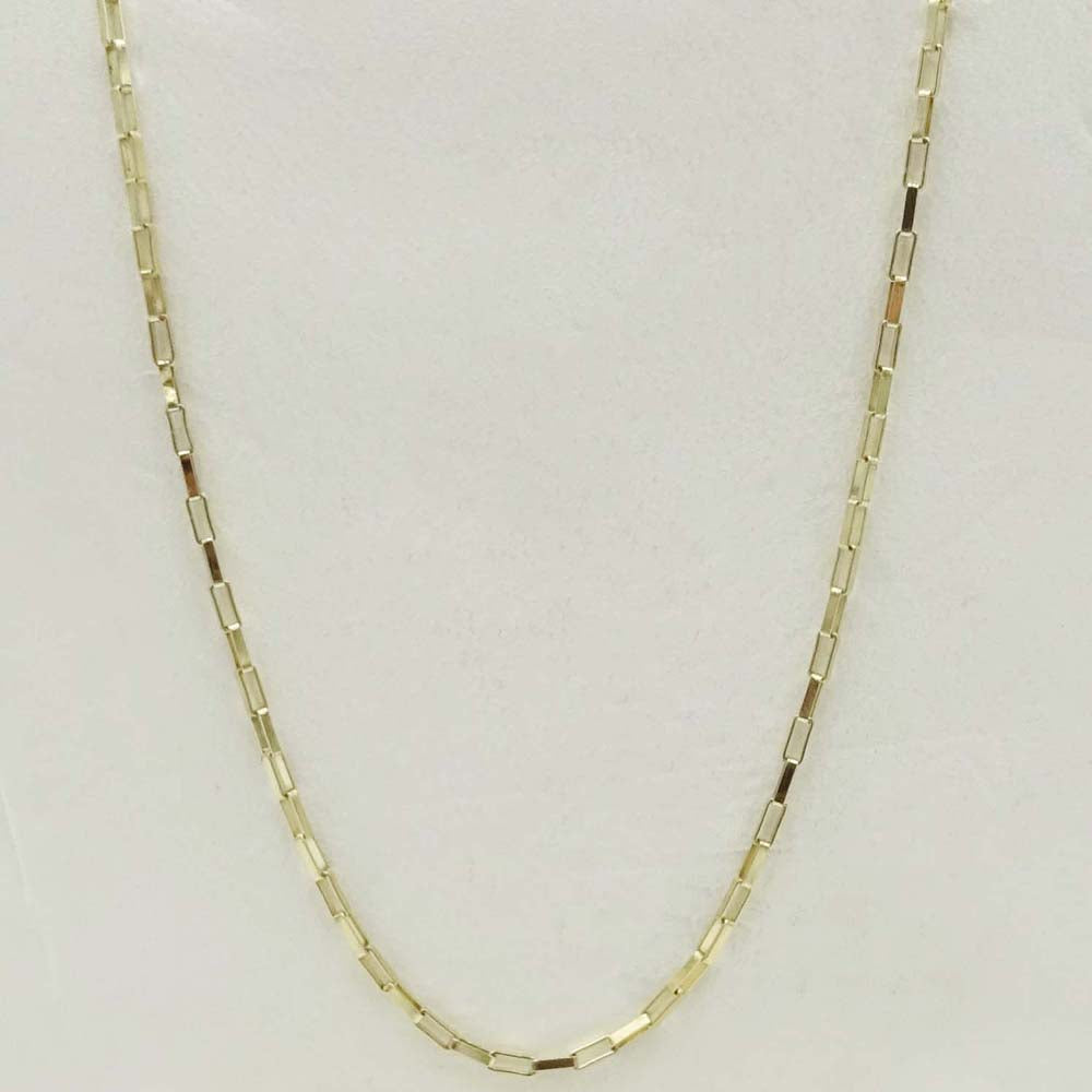 9ct Yellow Gold Fine Box Chain Necklace 18""